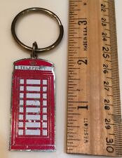 Keyring Keychain London Red Phone Telephone Booth Awnhill Ltd. Gold