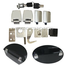 Chrome Hardware Latches Hinges Lock Kit For Harley King Tour Pack Touring 06-13