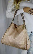 COACH 27843 Madison Phoebe Op Art Pearlescent Python Trimmed Hobo Tote Handbag