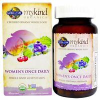 Women's Once Daily Organic Multivitamin by Garden of Life - 60 Vegan Tablets