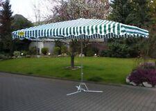 2 x 3 m Profimarktschirm Marktschirm Schirm Verkaufsschirm rot-weiß mit 20kg Fuß