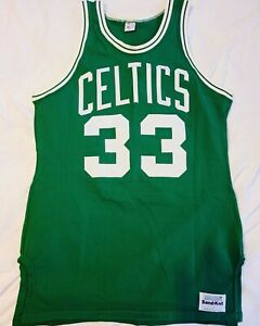 Larry Bird 1980s Boston Celtics Road Sand Knit Medalist Authentic Jersey Size 40