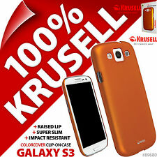 New Krusell Orange ColorCover Hard Case For Samsung i9300 Galaxy S3 Cover S III