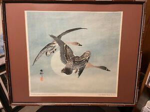 Japanese Woodblock Print OHARA KOSON 'On The Wing' Paris, France