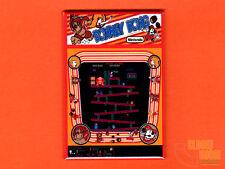 "Donkey Kong red cabinet marquee/bezel 2x3"" fridge/locker magnet Nintendo arcade"
