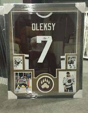 STEVE OLEKSY AUTOGRAPHED HERSHEY BEARS JERSEY CUSTOM FRAMED. JSA COA !!!