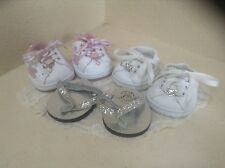 Lot of 3 Build a Bear Skechers Sneakers and Thongs Euc