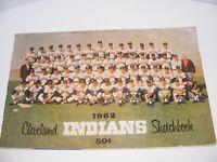 Rare 1962 1963 1964 Cleveland Indians Original Sketchbook Yearbook Lot of 3