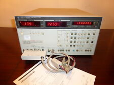 Agilent Hp 4192A 5 Hz - 13 Mhz Lf Impedance Analyzer w/ 16048C Test Leads Cal'D