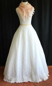 Lacy Full Length Petticoat Crinoline Bridal Wedding Costume Ballgown Prom Dance