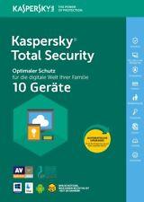 Kaspersky Total Security 2019 10 PC 1Jahr VOLLVERSION / Upgrade 2018 DE-Lizenz