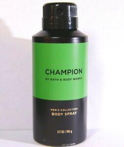 "Bath Body Works Men Collection ""CHAMPION"" Body Spray Mist 3.7 Oz NEW Full Size"