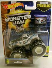 MICHIGAN ICE MONSTER TRUCK WITH FLAG MONSTER JAM TRUCK HOT WHEELS DIECAST 2017