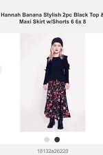 Hannah Banana Girls 2pc Ivory Gold Short Sleeves Top /& Maxi Skirt NEW 5 Last 1
