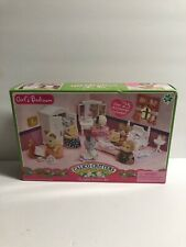 Calico Critters Girls Floral Bedroom Set Bed Furniture Vanity Accessories 2009