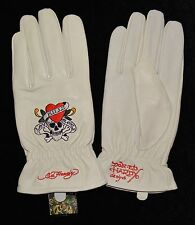 ***BRAND NEW IN PACKAGING*** Ed Hardy Women's Leather Gloves
