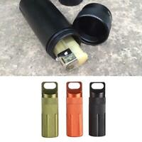 Outdoor Survival EDC Tool Waterproof Seal Bottle Metal Medicine Pill Container