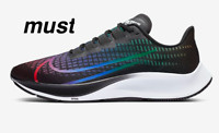 "Nike Air Zoom Pegasus 37 BETRUE""Black/Multi-Colour/White"" Men's Shoes All Sizes"