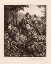 "Amazing 1900s Charles HOLROYD ORIGINAL Etching ""Renaissance Pastoral"" SIGNED COA"