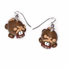 horse dangle earrings handmade farm animal emo cute