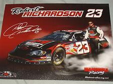 2009 ROBERT RICHARDSON #23 MAHINDRA TRACTORS WITH SIGNATURE NASCAR POSTCARD