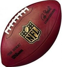 "AUTHENTIC NFL OFFICIAL ON-FIELD GAME WILSON FOOTBALL F1100 ""THE DUKE"" - GOODELL"