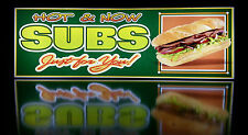Business LED Lighted Box Sign: HOT & NOW SUBS