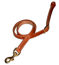 """Custom harness leather 1"""" tie down one snap Usa quality cowboy tack roper H821"""