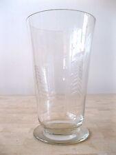 ANTIQUE KARHULA ART GLASS ENGRAVED VASE FIGURAL LUMBERJACK FINLAND SIGNED GL