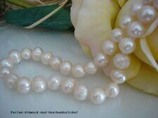 Kette 48cm aus echten Perlen Weiß 8mm, Handarbeit, mit Magnetverschluss, TOP