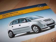 Feuillet pub / Sales leaflet OPEL Meriva 2003 //