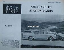 1956 Nash Rambler Station Wagon Original Autocar magazine Road test