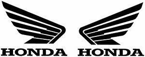 (X2) Honda Wings Decals Stickers Pair Quad Motorbike ATV Mower Tank