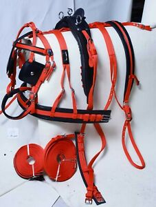 STRONG HORSE NYLON DRIVING CART BREECHING HARNESS SET RED COLOR FOR SINGLE HORSE