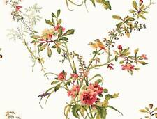 Wallpaper Designer Large Floral Bouquet with Cute Birds & Bees and Flowers