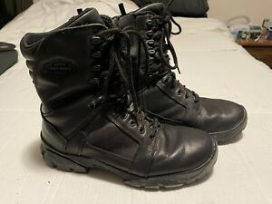Harley Davidson Boots Mens 10.5 Black Leather Side Zip Riding Boots
