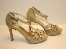 Anne Klein AK Sultry Women's Shoes Leather Heels Ivory/Tan color Sz: 9.5 M