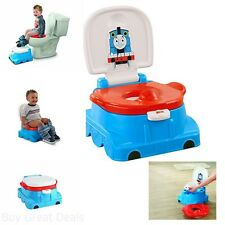 Potty Child Training Thomas Railroad Ring Toilet Seat Stepstool Toddlers 2 in 1