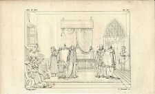Stampa antica MARY STUART Regina di Scozia Scotland 1808 Old antique print