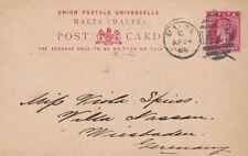 Colony Postal Card, Stationery Malta Stamps (Pre-1964)
