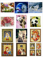 DIY 5D Diamond Painting Embroidery Cross Stitch Kit Home Room Decor Craft Gift
