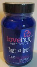 LoveBug Probiotics- Yeast is a Beast 30 count EXp 04/2021
