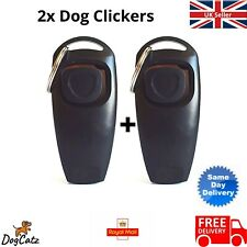 More details for dog cat puppy clicker whistle training x2, pet dogs, cats clickers whistles