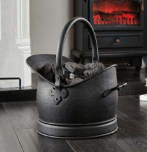 Coal Hod Fireside Fuel Scuttle Logs Storage Bucket Fireplace Accessory VINTAGE