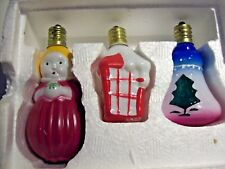 FIGURAL Christmas Lights Henry Ford Museum 3 Avon Gallery Orig 1984 Victorian EC