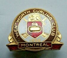 Rare Curling Pin - 1958 Wentworth Curling Club Montreal