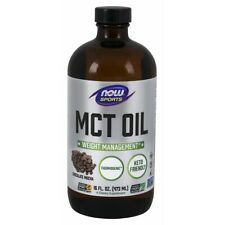 NOW Foods MCT Oil, Chocolate Mocha 16 fl. oz, clearance for exp date 07/2020