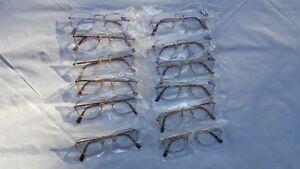 Bifocal Reading Glasses Gold Frame Large Lense 1 Pr Strength Choice +100 to +400