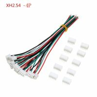 10 Sets Mini Micro JST XH2.54mm 4 Pin Connector Plug Socket Wires Cable