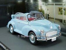 MORRIS MINOR CONVERTIBLE CAR MODEL 1:43 SCALE BOND BLUE VERSION R01X